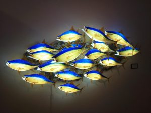 18 piece Yellow Fin Tuna Wall Mount with LED lighitngl! AMAZING